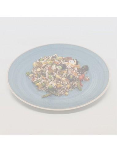 Pastís de carxofes i verdures musselina