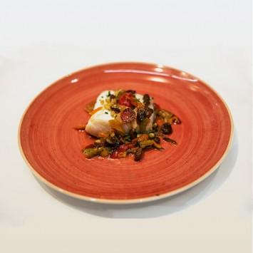 Bacallà confitat amb verdures
